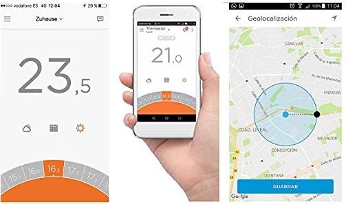 Raumthermostat über App gesteuert