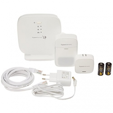 Gigaset elements Alarmanlage / elements starter kit / Smart Home Basisstation Bewegungsmelder Türsensor / Kompatibel mit Philips Hue2