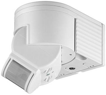 goobay Infrarot Aufputz-Bewegungsmelder für Innen- und Außenbereich - 180° Arbeitsfeld - Reichweite bis 12m - Dreh-/Neigbarer Erfassungsbereich - IP44 Schutzklasse - Spritzwasser geschützt - Weiß1