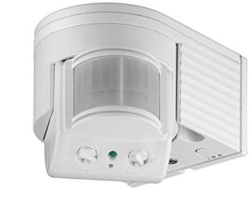 goobay Infrarot Aufputz-Bewegungsmelder für Innen- und Außenbereich - 180° Arbeitsfeld - Reichweite bis 12m - Dreh-/Neigbarer Erfassungsbereich - IP44 Schutzklasse - Spritzwasser geschützt - Weiß2