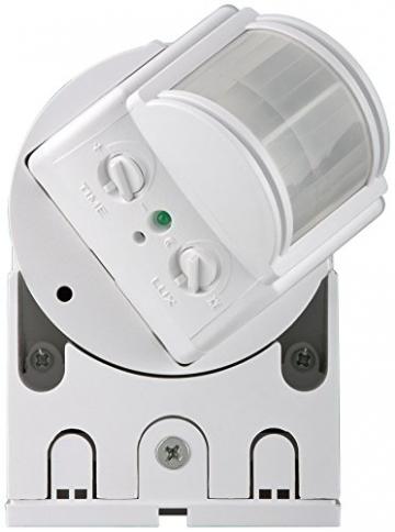 goobay Infrarot Aufputz-Bewegungsmelder für Innen- und Außenbereich - 180° Arbeitsfeld - Reichweite bis 12m - Dreh-/Neigbarer Erfassungsbereich - IP44 Schutzklasse - Spritzwasser geschützt - Weiß3