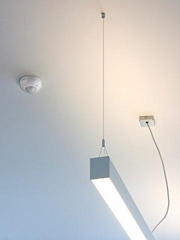 Goobay Infrarot Bewegungsmelder zur Deckenmontage 360 Grad 6M Reichweite für Innen LED-geeignet, 1 Stück, Weiß, 95172