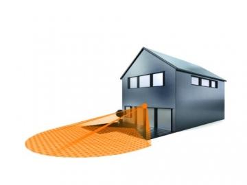Steinel Bewegungsmelder IS 130-2 weiß, 130° Bewegungssensor, 12 m Reichweite, für den Innen- und Außenbereich, IP 54 2