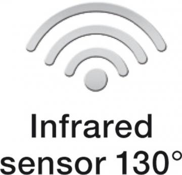 Steinel Bewegungsmelder IS 130-2 weiß, 130° Bewegungssensor, 12 m Reichweite, für den Innen- und Außenbereich, IP 54 5