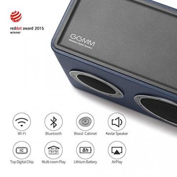 GGMM M4 Tragbarer Multiroom Lautsprecher AirPlay 3