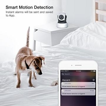 APEMAN 720P Wlan IP Kamera WIFI Überwachungskamera mit Nachtsicht Bewegungserkennung 2 Wege Audio Smart Home Kamera Unterstützung 128GB Mikro-SD Karte 4
