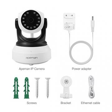 APEMAN 720P Wlan IP Kamera WIFI Überwachungskamera mit Nachtsicht Bewegungserkennung 2 Wege Audio Smart Home Kamera Unterstützung 128GB Mikro-SD Karte 9