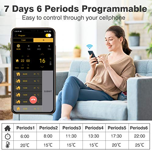 Raumthermostat Flureon WiFi raumthermostat smart home heizung fussbodenheizung 02