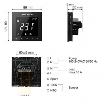 Flureon WiFi raumthermostat Test und Vergleich smart home heizung fussbodenheizung 03