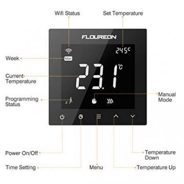 Flureon WiFi raumthermostat smart home heizung fussbodenheizung 04